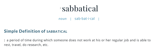 sabbatical definition