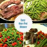 skirt steak with warm garlic veggies recipe