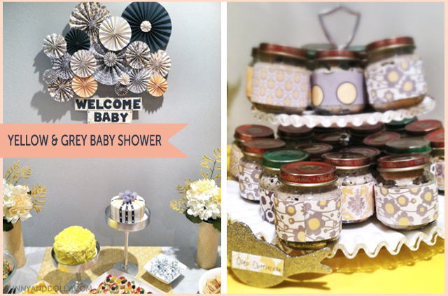 Grey And Yellow Baby Shower 1