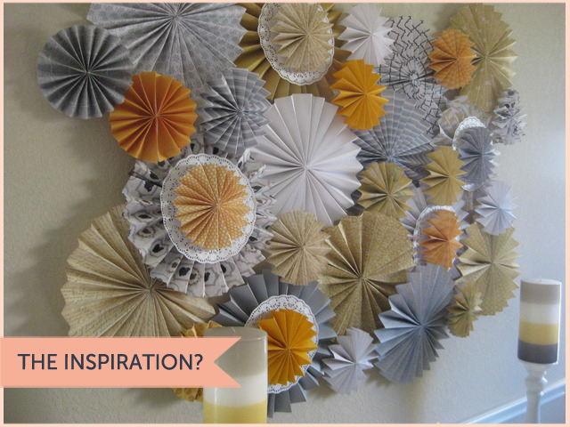 paper pinwheel wall decor for baby shower
