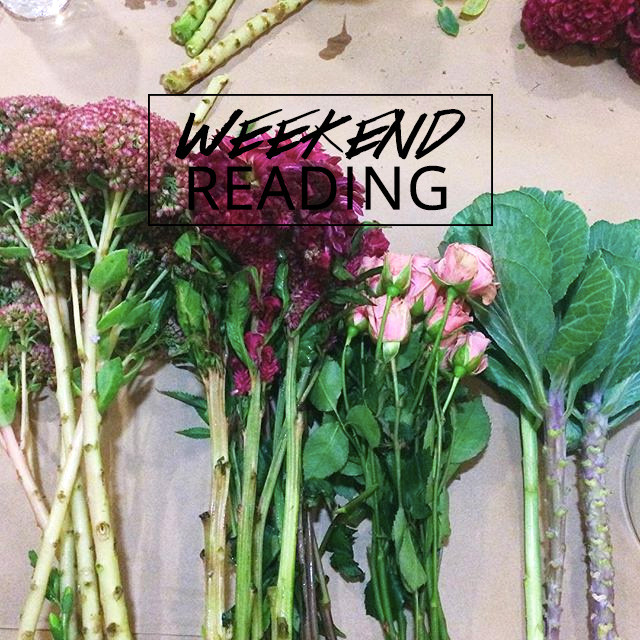 A Girl Named PJ's weekend reading link roundup | flower arranging