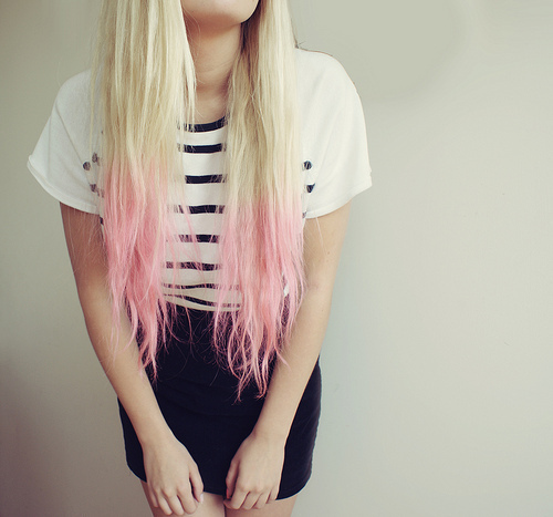 Dip Dye Pink Hair
