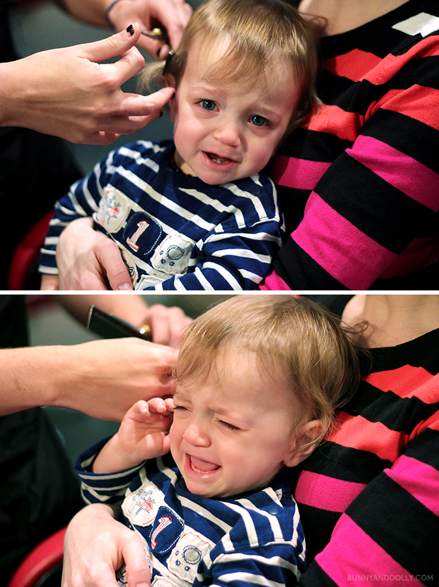 Toddler Crying During First Haircut