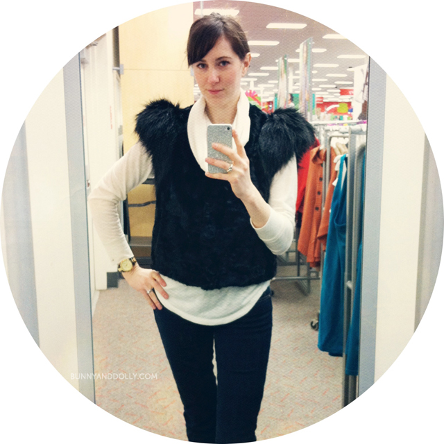 Bunny & Dolly Neiman Marcus Target Collaboration Fur Vest