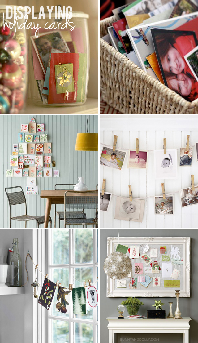 Bunny and Dolly - Creative Ways To Display Holiday Cards