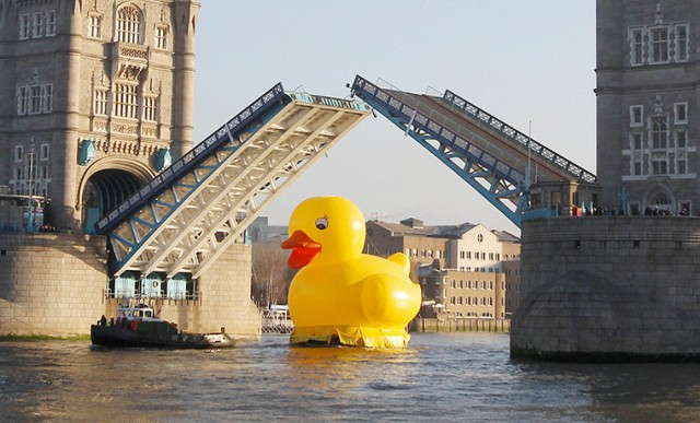 Bunny & Dolly | Giant Rubber Duck in London