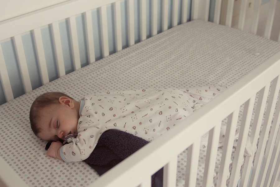 Guess who is sleeping on his stomach? Newborn Babies Sleeping In Cribs