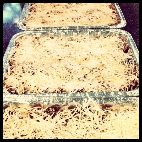 three lasagnas