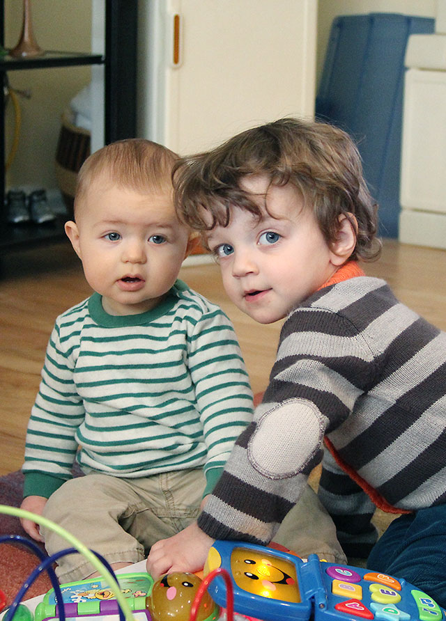 two adorable little boys