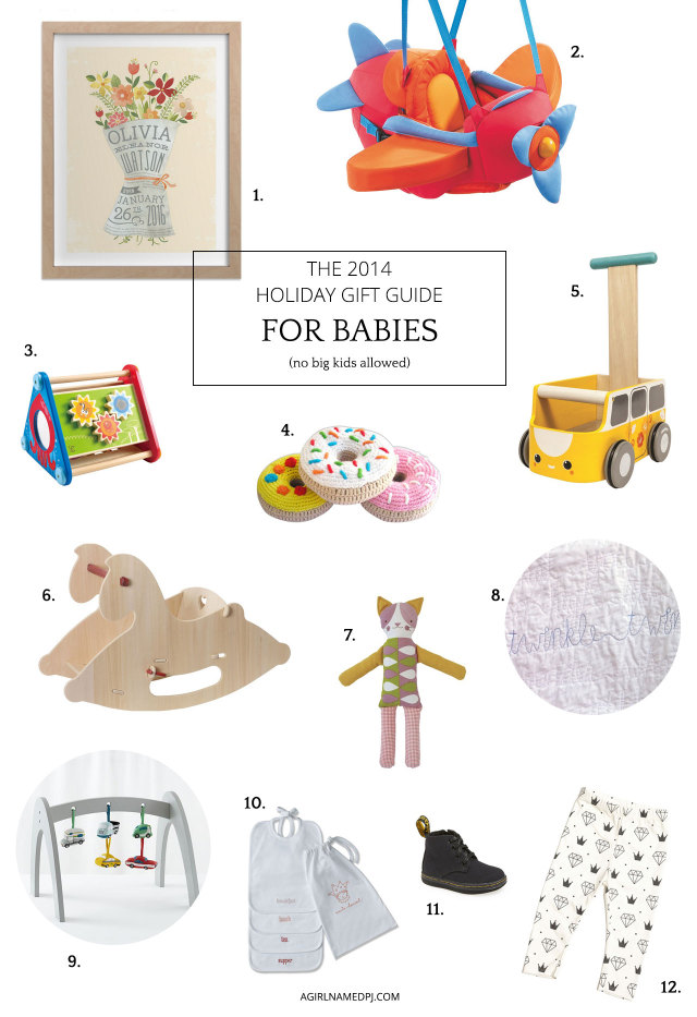 Holiday Gift Guide For Babies (Ages 0-12 Months) | A Girl Named PJ