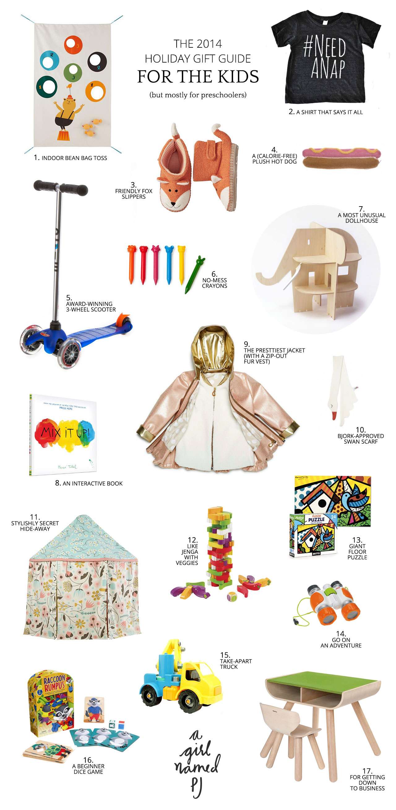 Holiday Gift Guide for Kids | A Girl Named PJ
