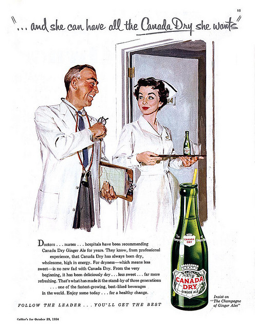 1952--- 20cc of ginger ale- stat!