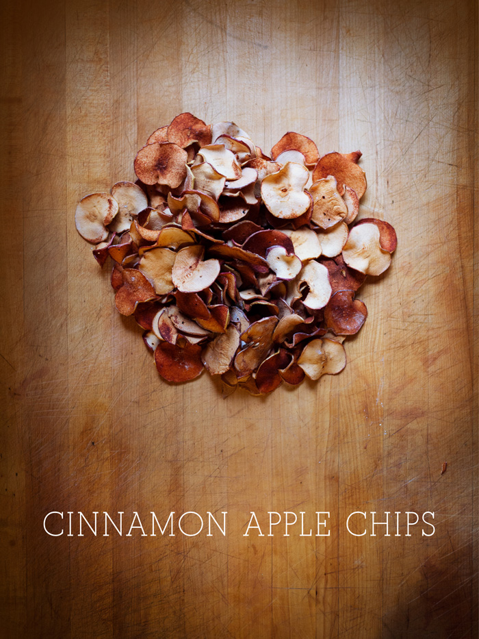 Finished Pile of Cinnamon Apple Chips