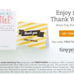 "Say ""thank you"" with 10 free personalized cards"