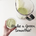 Try this green smoothie with banana and spinach