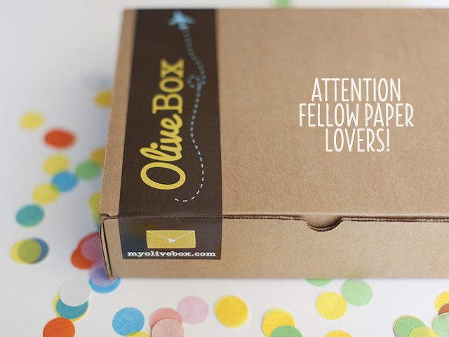 OliveBox Monthly Subscription Service for Paper Lovers bunnyanddolly.com