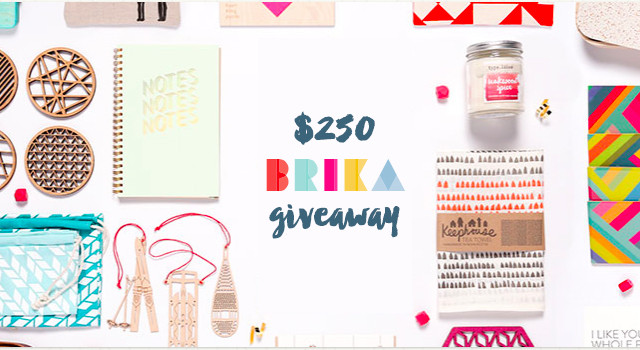 A $250 BRIKA giveaway from A Girl Named PJ and The Holiday Collective