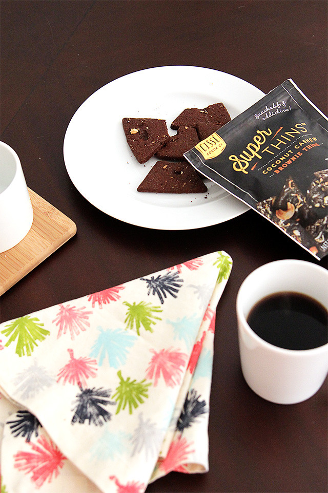 Snack break! Coffee with brownie thins | A Girl Named PJ