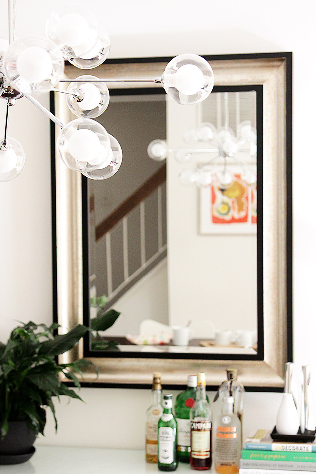 How to decorate a rental: Swap your dining room light fixture for a sputnik chandelier | A Girl Named PJ