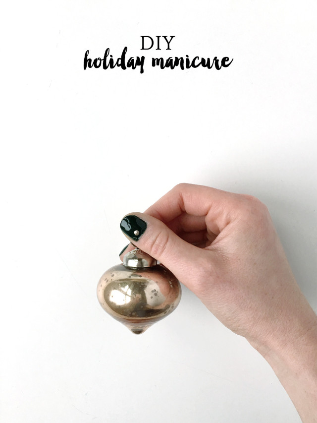Easy DIY holiday manicure that's perfect for Christmas from A Girl Named PJ