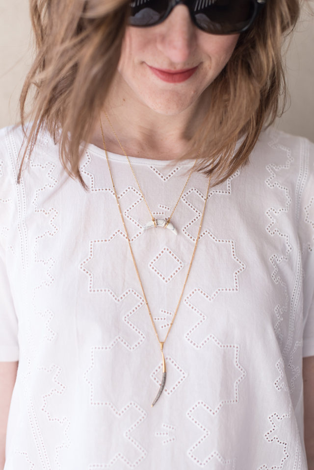 Layered necklaces for spring, plus some thoughts on trying The Paleo Diet | A Girl Named PJ