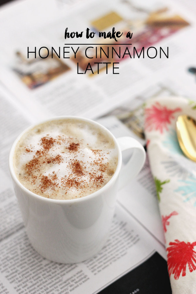 How to make a honey cinnamon latte at home without an espresso machine!