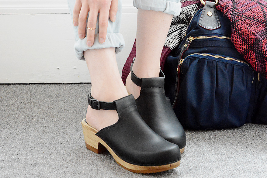 How Wear Clogs This Fall Girl Named