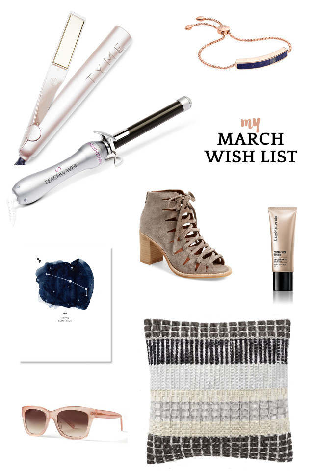 A Girl Named PJ's monthly wish list: March must-haves