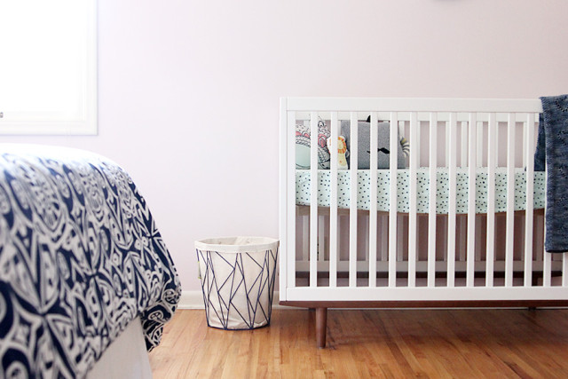 A multi-purpose nursery that triples as a guest room and home office | A Girl Named PJ