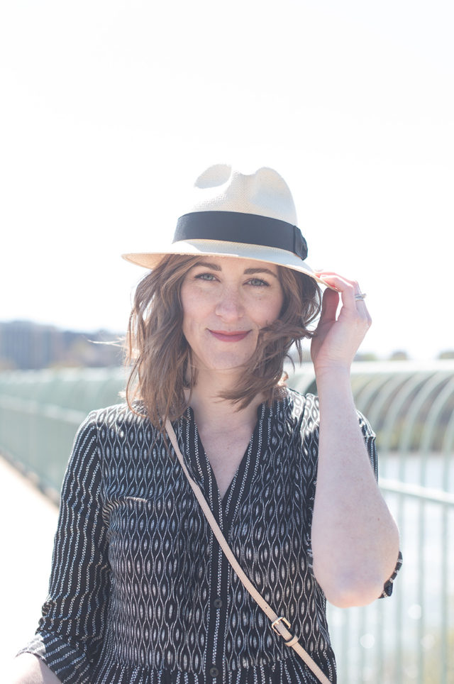 My favorite summer straw hat! Talking about freelance opportunities and spending less time blogging on A Girl Named PJ.