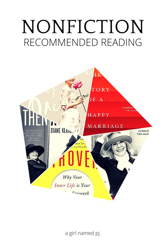 5 nonfiction books to read this spring. Recommend reading list from A Girl Named PJ, including memoirs and a self-help book.
