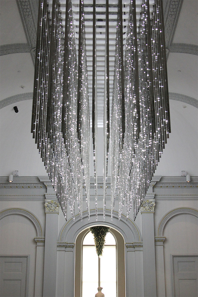 The Renwick Gallery Wonder exhibit: Leo Villareal LED chandelier on A Girl Named PJ