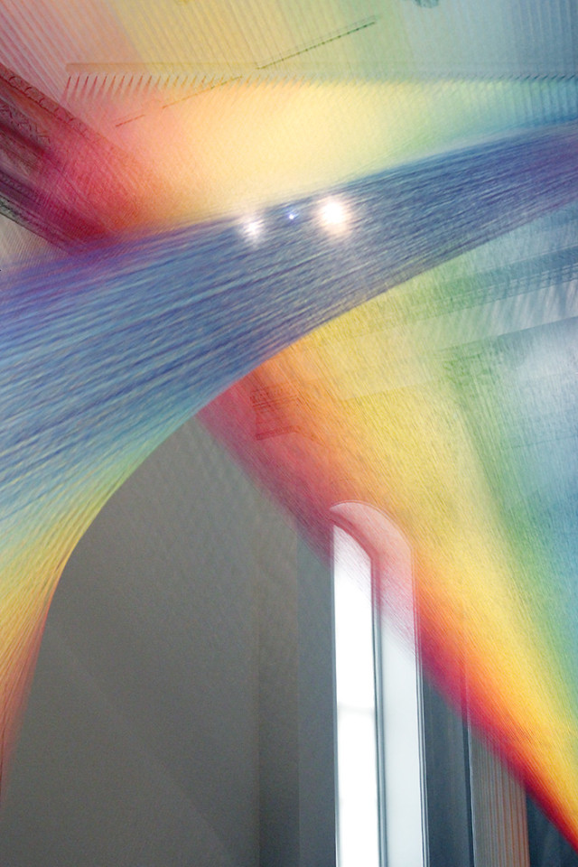 Gabriel Dawe Plexius A1: A rainbow of thread by Gabriel Dawe at The Renwick Gallery Wonder exhibit on A Girl Named PJ