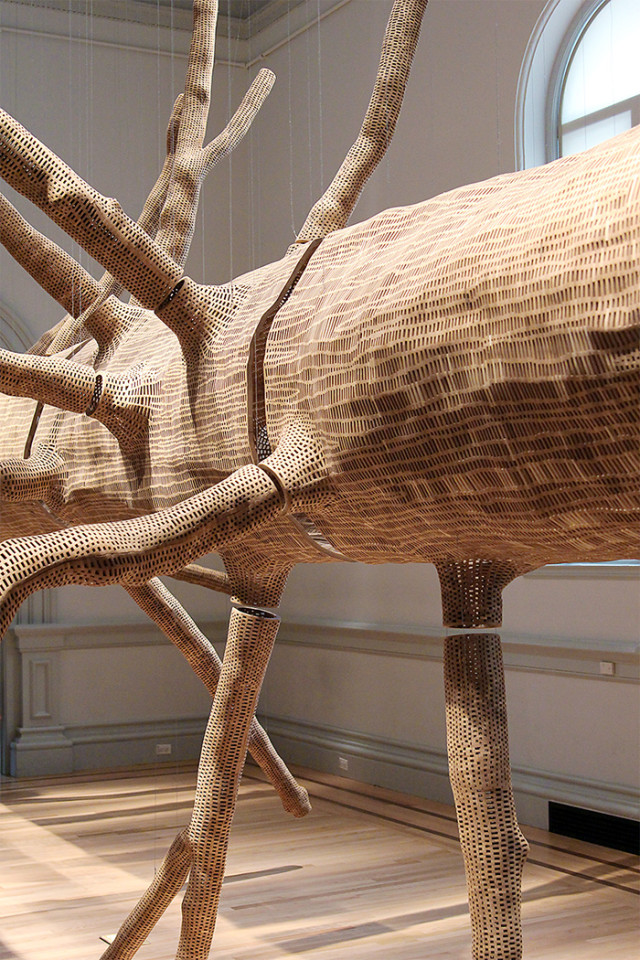 Hemlock tree by John Grade at the Renwick Gallery Wonder exhibit on A Girl Named PJ