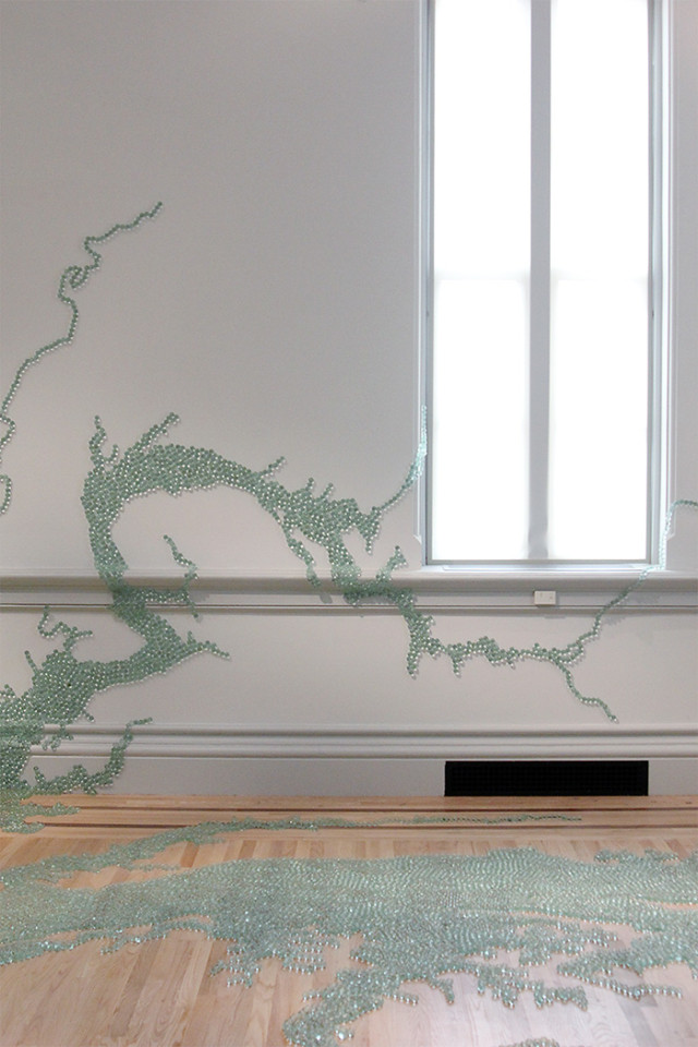 The Renwick Gallery Wonder exhibit: Maya Lin marble Chesapeake Bay on A Girl Named PJ