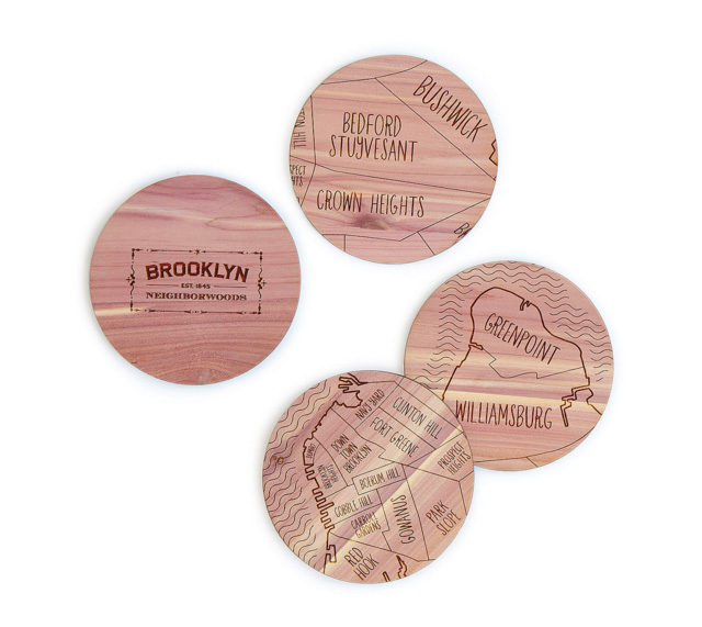 Neighborwoods Map Coasters from UncommonGoods on A Girl Named PJ