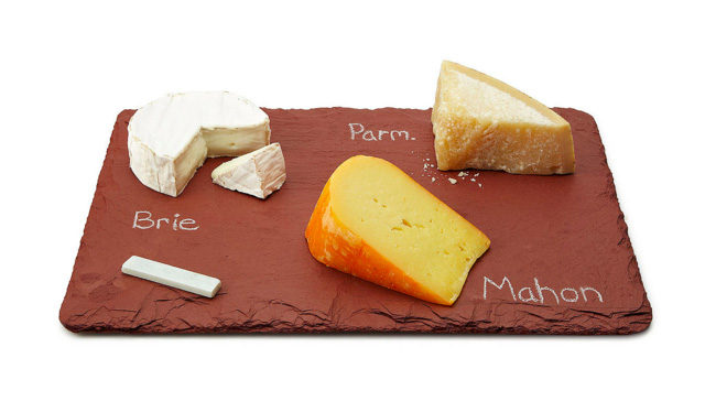 Slate Cheese Board with Soapstone Chalk from UncommonGoods on A Girl Named PJ