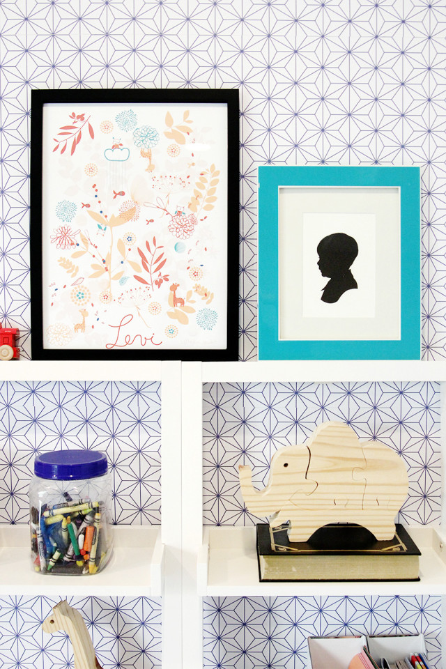 Framed art is an easy way to upgrade a home office. Learn more ways to decorate your desk on A Girl Named PJ.