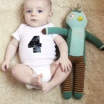 Asa's monthly baby photo (four months old)
