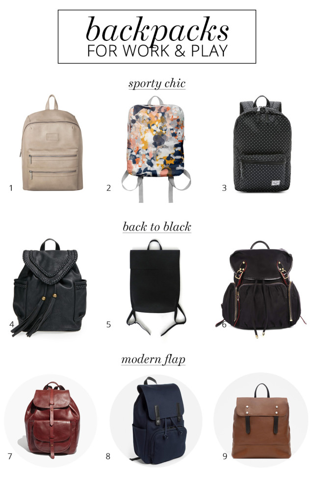 9 stylish backpacks for women to wear to work and on the weekends | A Girl Named PJ