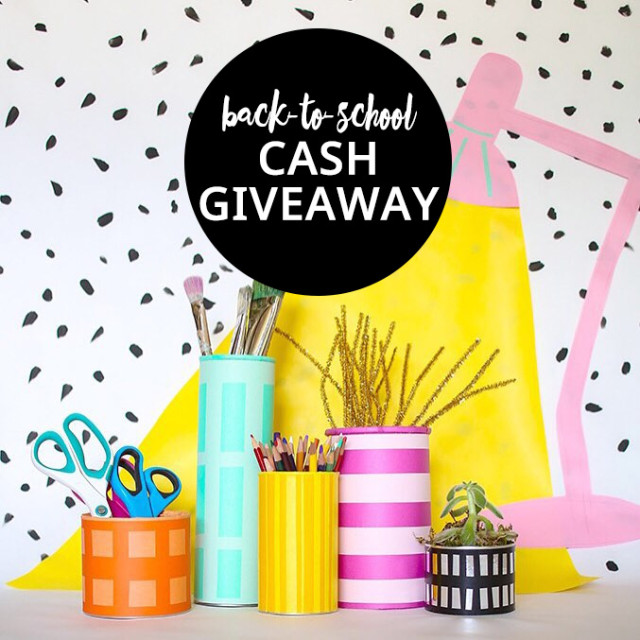 Enter our back-to-school cash giveaway!