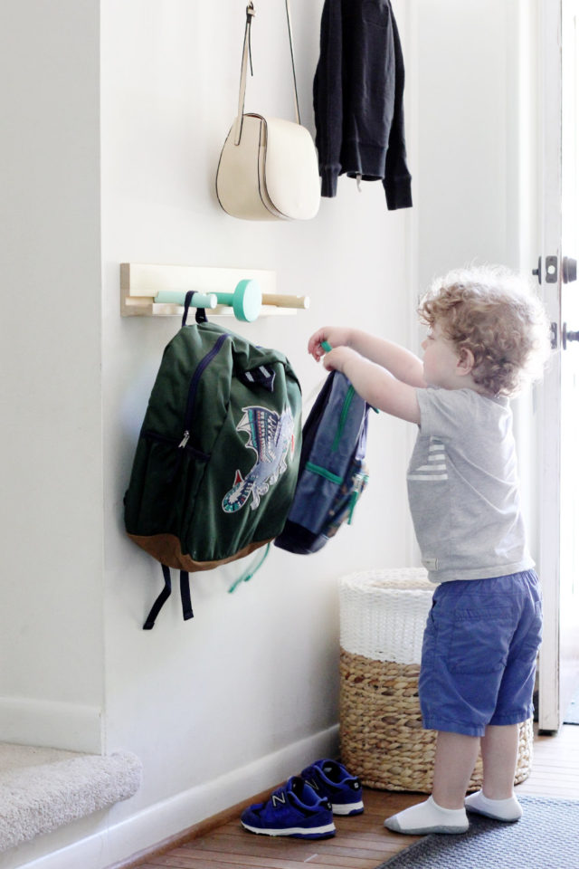 Pack backpacks the night before to make school mornings more manageable with kids. We love these backpacks from Hanna Andersson.