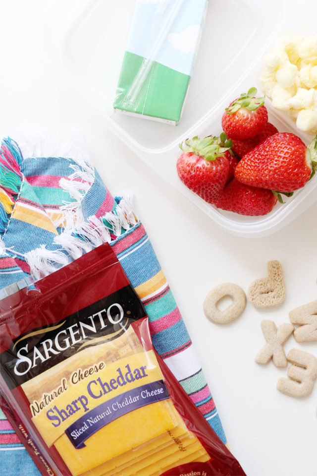 Pack lunch the night before to make school mornings more manageable. Sargento Slices are 100% real, natural cheese that kids love.
