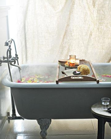 Balinese-style bath soak