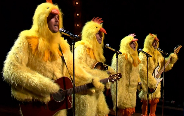 The Chickeneers all-clucking version of Ho Hey on Jimmy Fallon