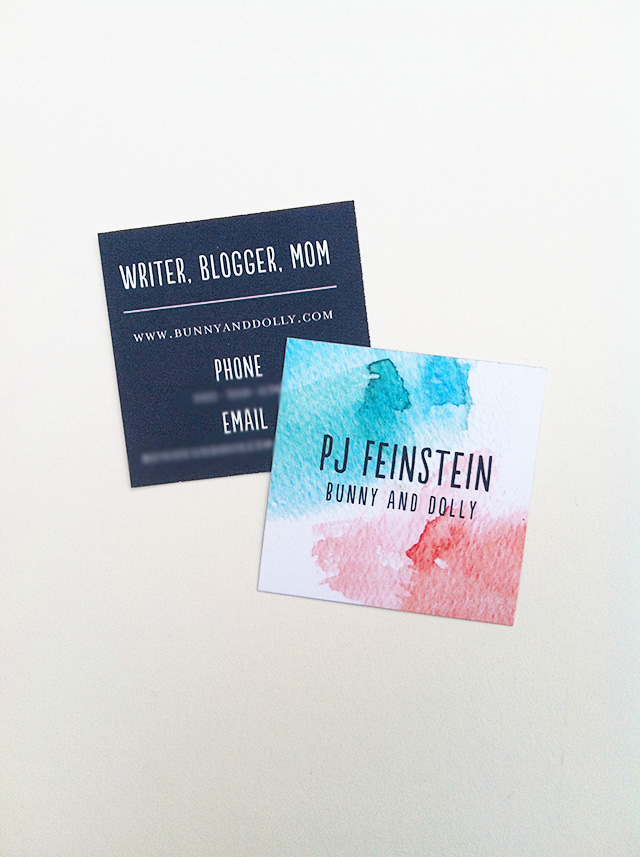 Bunny and Dolly business cards
