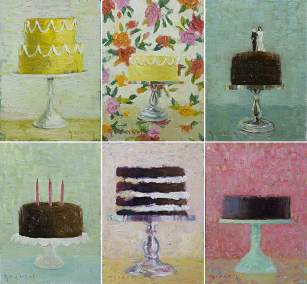 Paul Ferney cake paintings