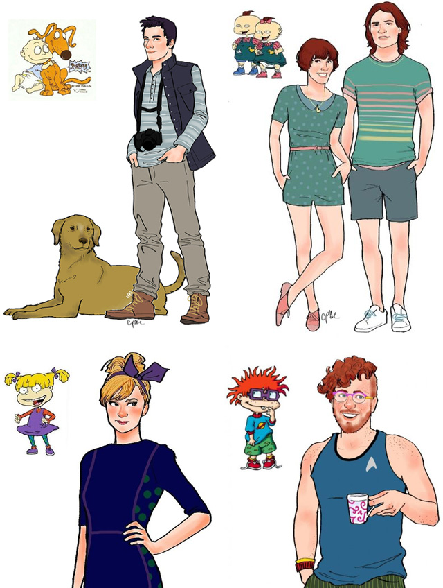 Rugrats grown up by celestedoodles