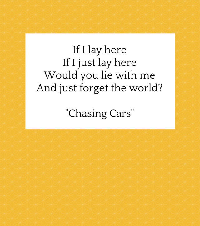 chasing cars by snow patrol song lyrics