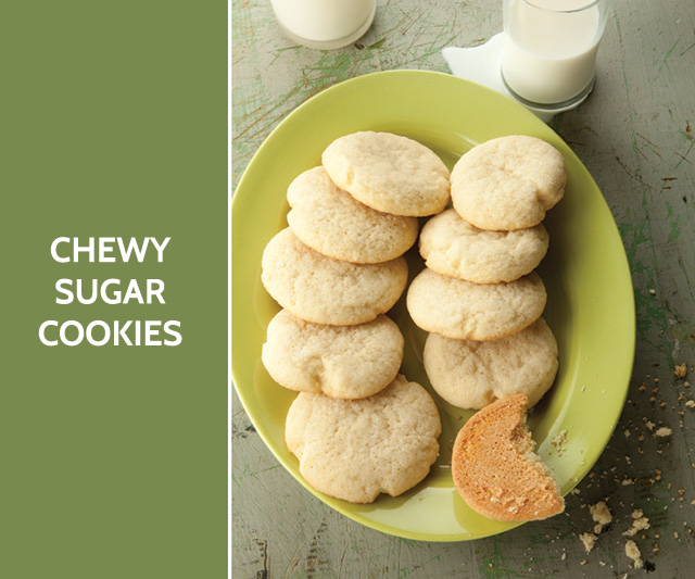 chewy sugar cookies #recipe #baking bunnyanddolly.com